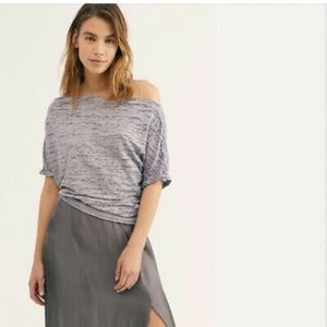 2/20 Free people Astrid convertible neck t shirt
